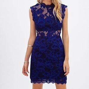 Forever21 Royal Blue Lace Dress